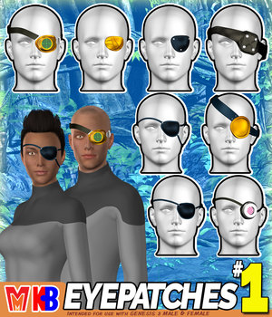 Eyepatches v001 MMKBG3 3D Figure Assets MightyMite