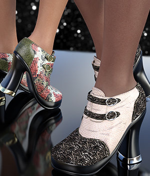 NYC Moods for Season of the Witch Shoes 3D Figure Assets 3DSublimeProductions