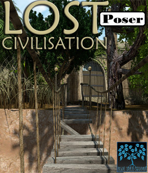 Lost Civilisation for Poser 3D Models BlueTreeStudio
