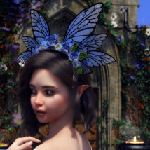 Butterfly Flower for Genesis 8 Female image 2