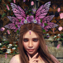 Butterfly Flower for Genesis 8 Female image 4
