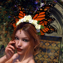 Butterfly Flower for Genesis 8 Female image 5