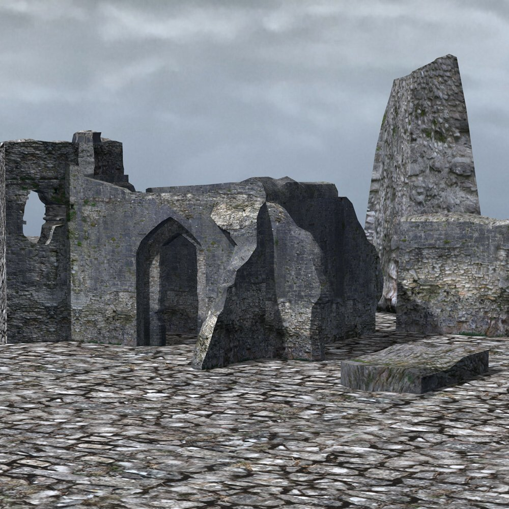Castle in Ruins for Poser by VanishingPoint
