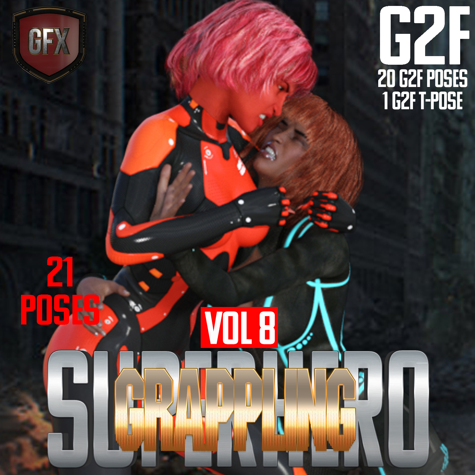 SuperHero Grappling for G2F Volume 8 by GriffinFX