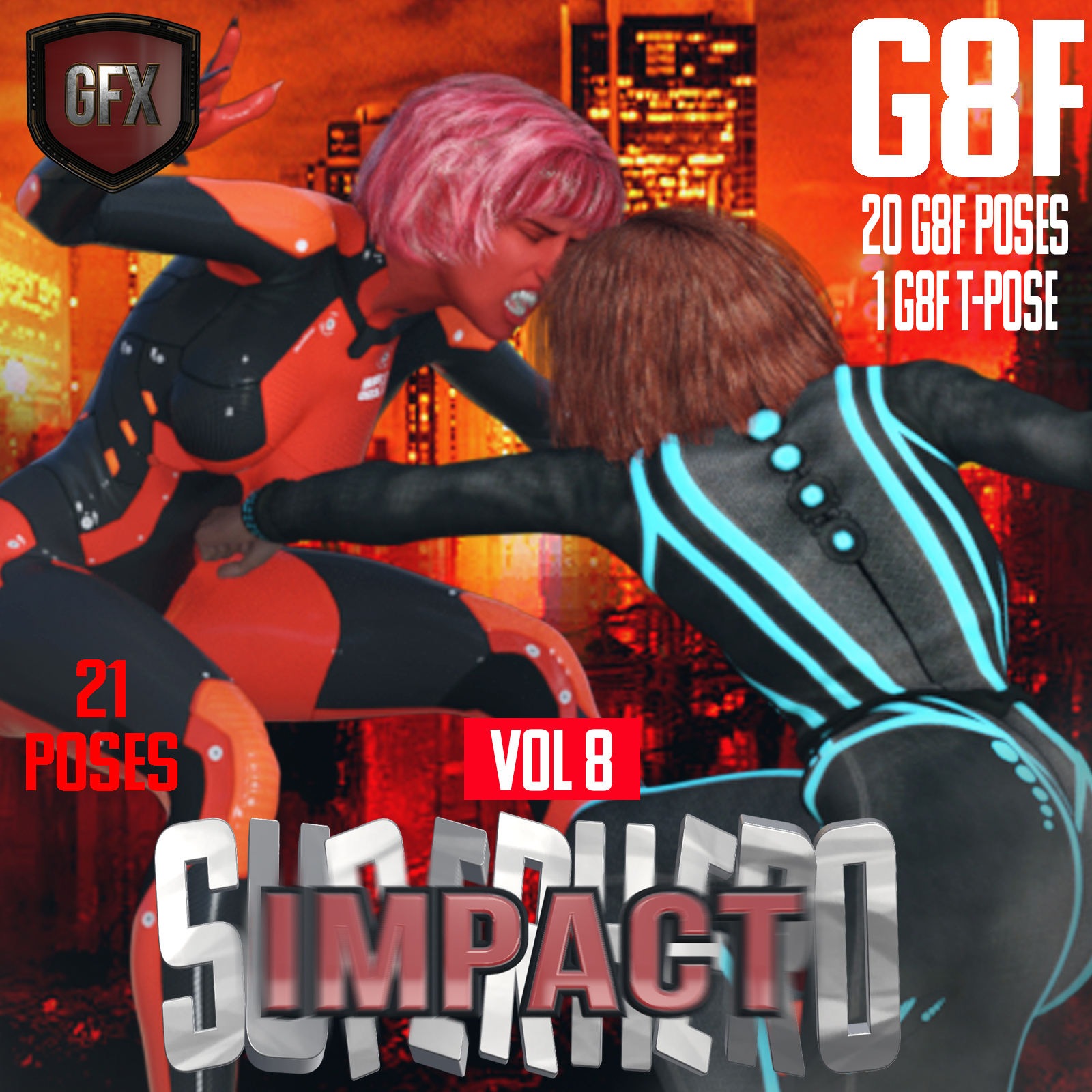SuperHero Impact for G8F Volume 8 by GriffinFX