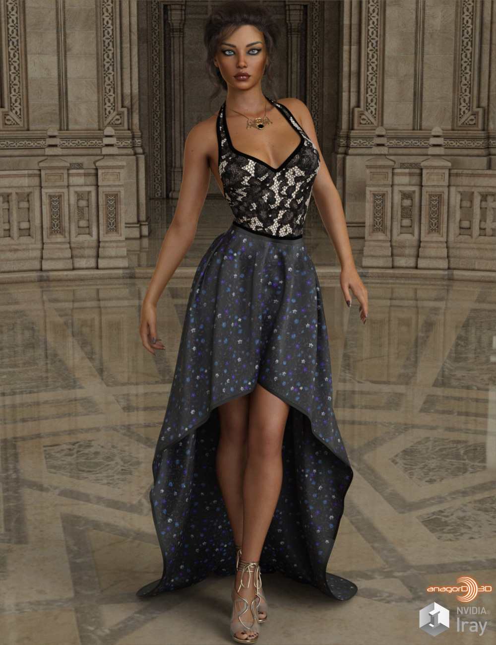 VERSUS - dForce Exalted Dress for Genesis 8 Females by Anagord