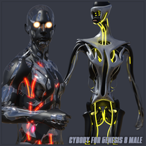 CyBody - Cyborg Internal Structure and Materials for Genesis 8 Male image 3