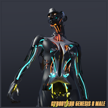 CyBody - Cyborg Internal Structure and Materials for Genesis 8 Male image 7