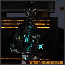 CyBody - Cyborg Internal Structure and Materials for Genesis 8 Male image 8