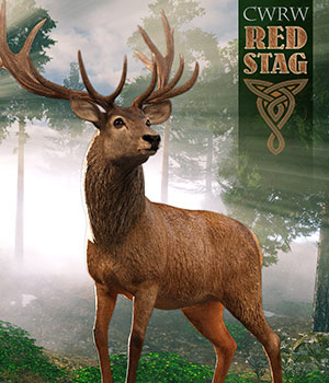 CWRW Red Stag for the HiveWire Mule Deer 3D Figure Assets 3D Models cwrw
