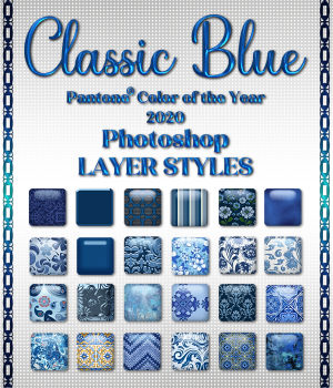 Classic Blue PS Layer Styles Variety 2D Graphics Merchant Resources fractalartist01