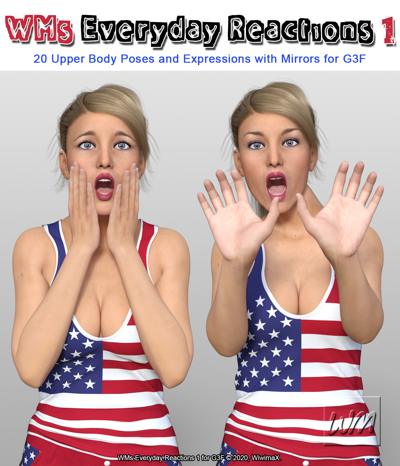 WMs Everyday Reactions Pack 1 for G3F by WiwimaX