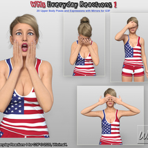 WMs Everyday Reactions Pack 1 for G3F image 3