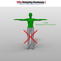 WMs Everyday Reactions Pack 1 for G3F image 5