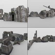Castle in Ruins for DAZ Studio image 6
