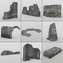 Castle in Ruins for DAZ Studio image 8