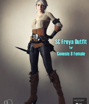 SC Freya Outfit for Genesis 8 Female 3D Figure Assets secondcircle
