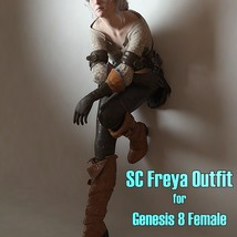 SC Freya Outfit for Genesis 8 Female image 2