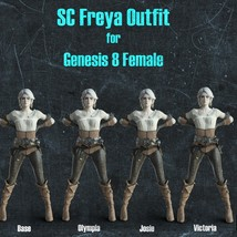 SC Freya Outfit for Genesis 8 Female image 5