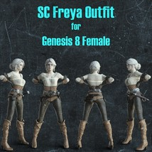 SC Freya Outfit for Genesis 8 Female image 6