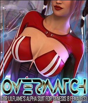 Overwatch for Alpha Suit for Genesis 8 Females 3D Figure Assets ShanasSoulmate