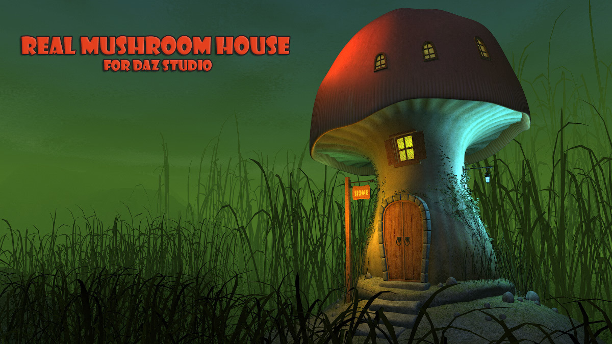 Real mushroom house for Daz Studio by 1971s