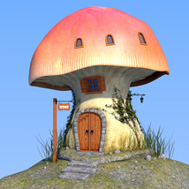 Real mushroom house for Daz Studio image 1