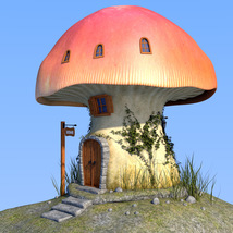 Real mushroom house for Daz Studio image 3