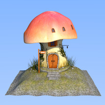 Real mushroom house for Daz Studio image 6