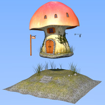 Real mushroom house for Daz Studio image 7