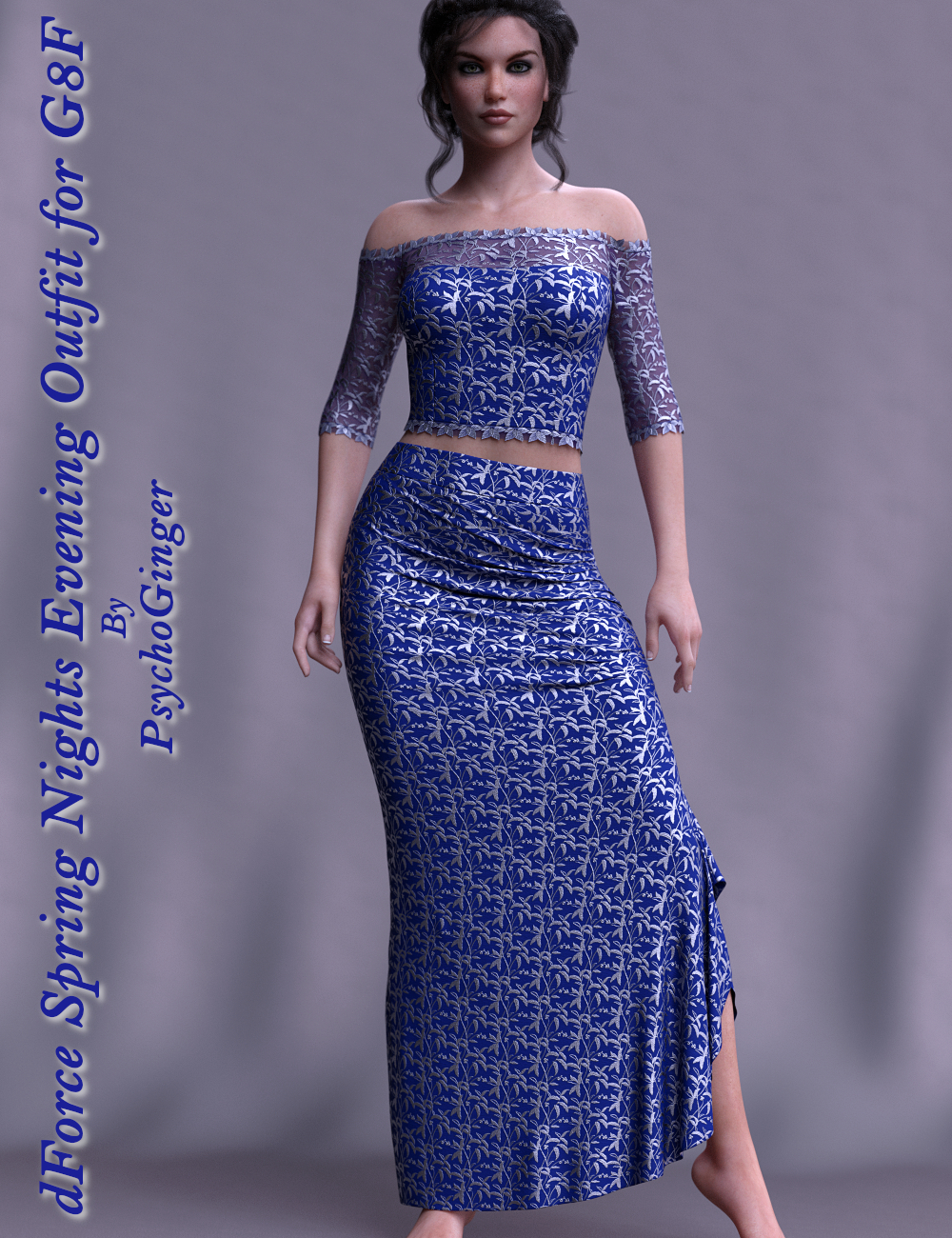 dForce Spring Nights Evening Outfit for G8F by PsychoGinger