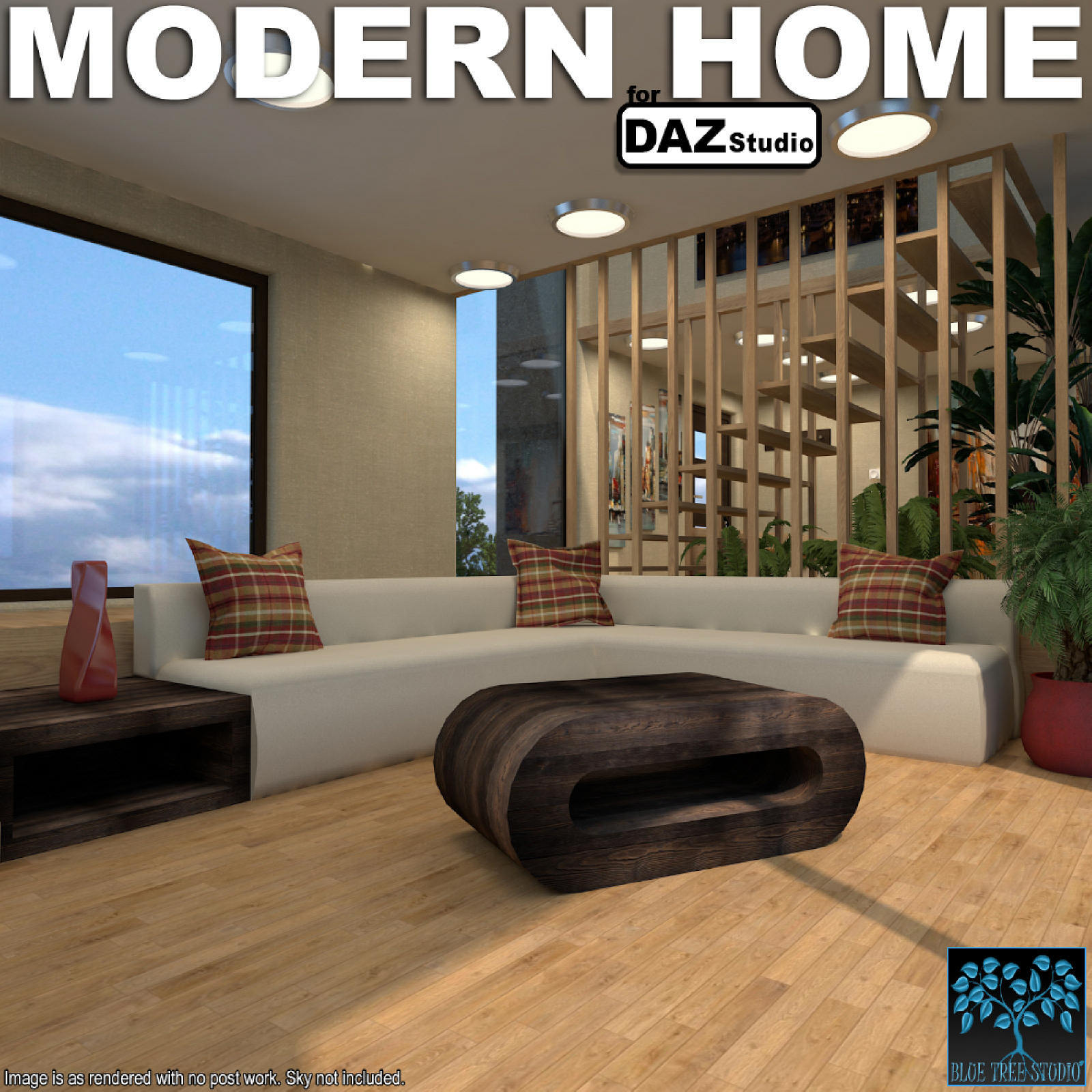 Modern Home for Daz Studio by BlueTreeStudio