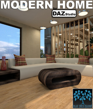 Modern Home for Daz Studio 3D Models BlueTreeStudio