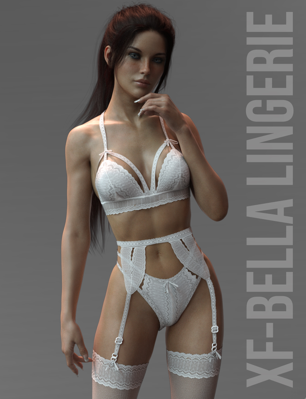 X-Fashion Bella Lingerie Genesis 8 Females by xtrart-3d