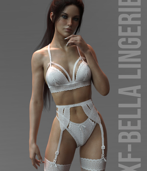 X-Fashion Bella Lingerie Genesis 8 Females 3D Figure Assets xtrart-3d