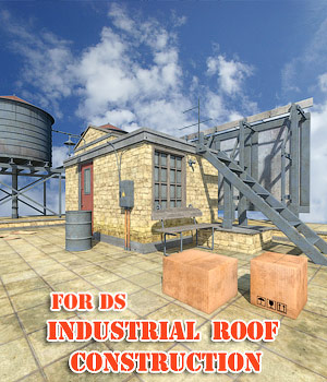 Industrial Roof Construction for DS 3D Models 1971s