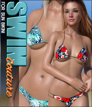 SWIM Couture for Sun Bikini G8F 3D Figure Assets Sveva