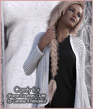 Comfy for Courtney Outfit  3D Figure Assets antje