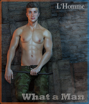 What a Man - for L'Homme 3D Figure Assets 3D Models La Femme - LHomme Poser Figures RPublishing