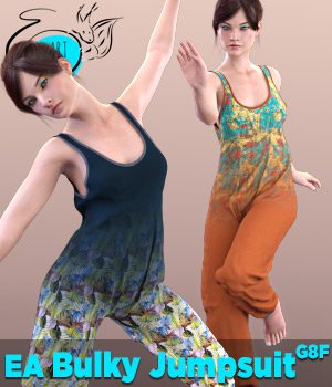 EA Bulky Jumpsuit for Genesis 8 Female(s) 3D Figure Assets EichhornArt