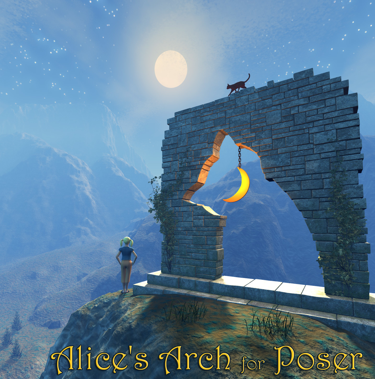 Alice's Arch for Poser by 1971s