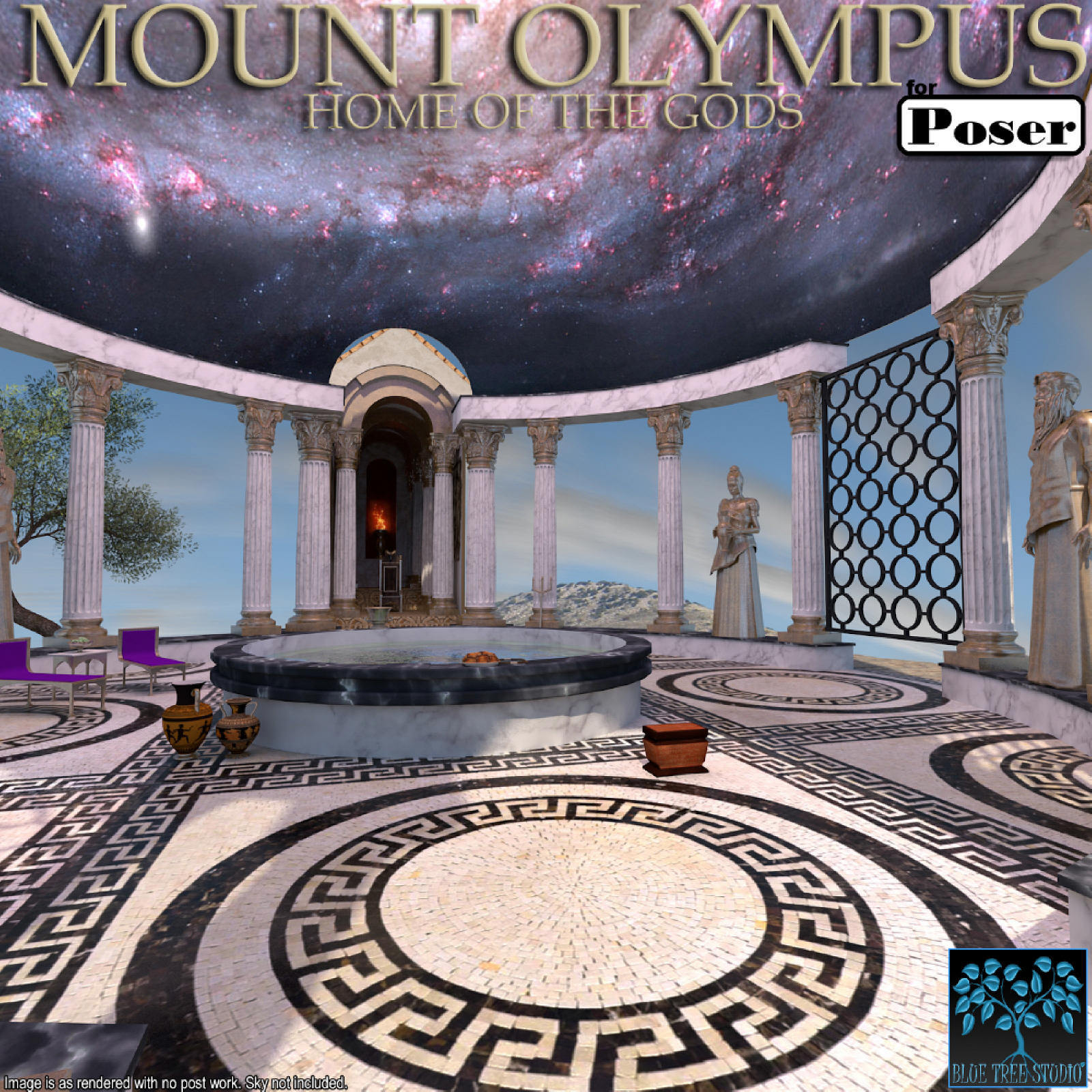 Mount Olympus for Poser by BlueTreeStudio