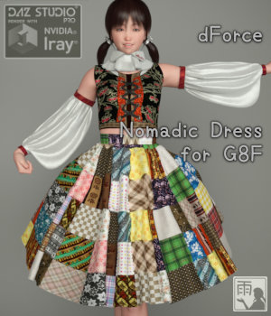 dForce Nomadic Dress for G8F 3D Figure Assets yashiro_amamiya