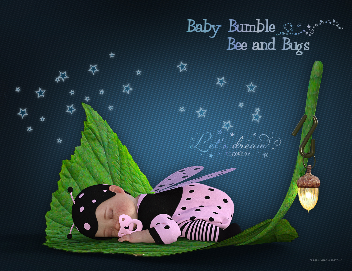 Baby Bumble Bee & Bugs by Leilana