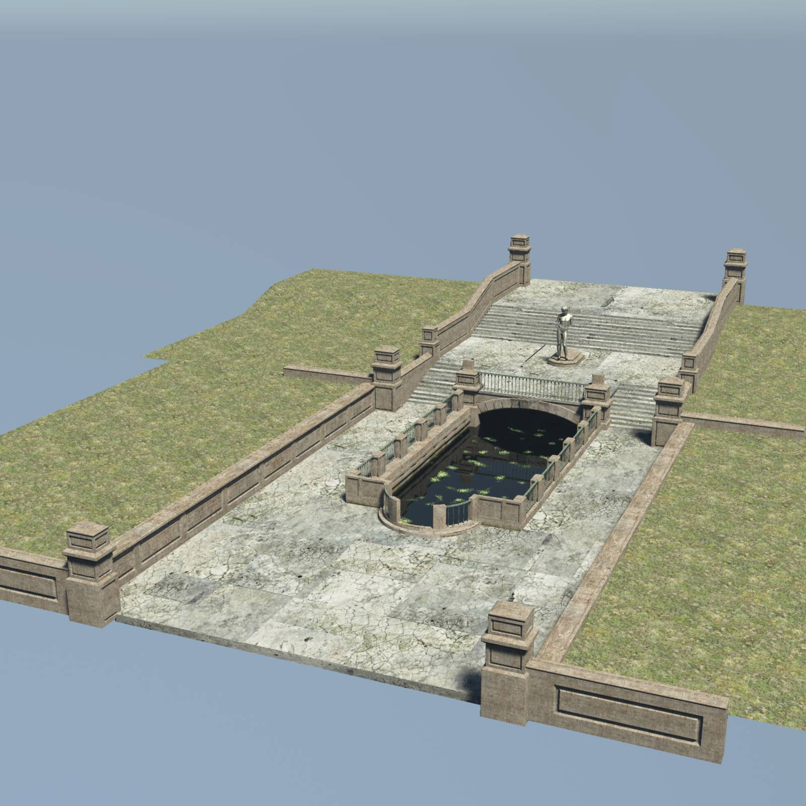 MS20 Park Reflecting Pond for Obj and fbx by London224