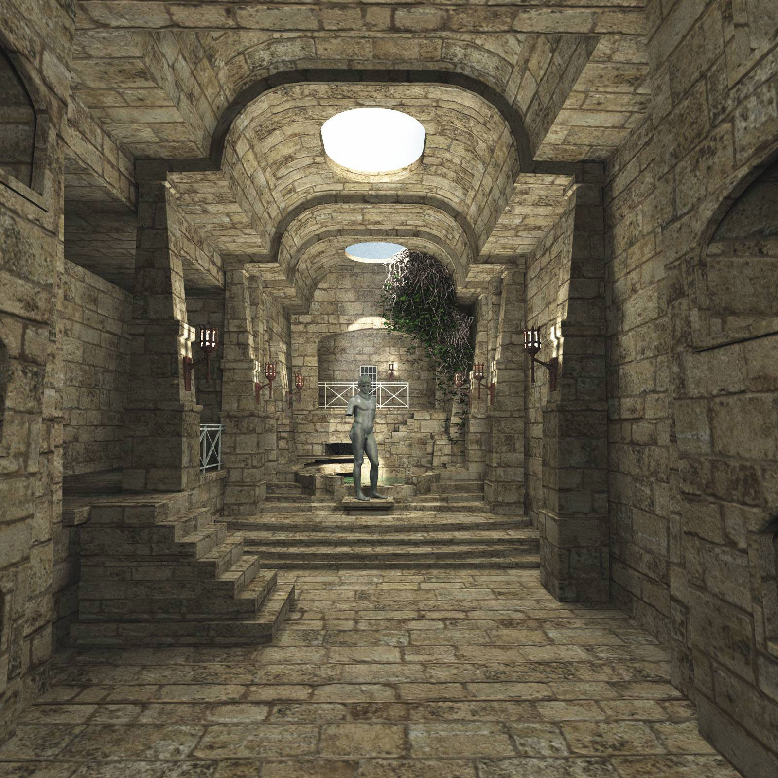 MS20 The Crypt Product Obj and fbx by London224