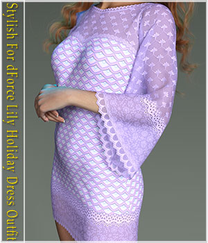 Stylish For dForce Lily Holiday Outfit 3D Figure Assets Belladzines