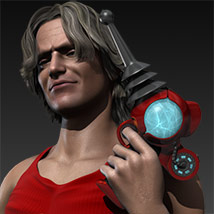 Pulp SciFi Pistol II for Poser and DS image 2