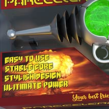 Pulp SciFi Pistol II for Poser and DS image 4