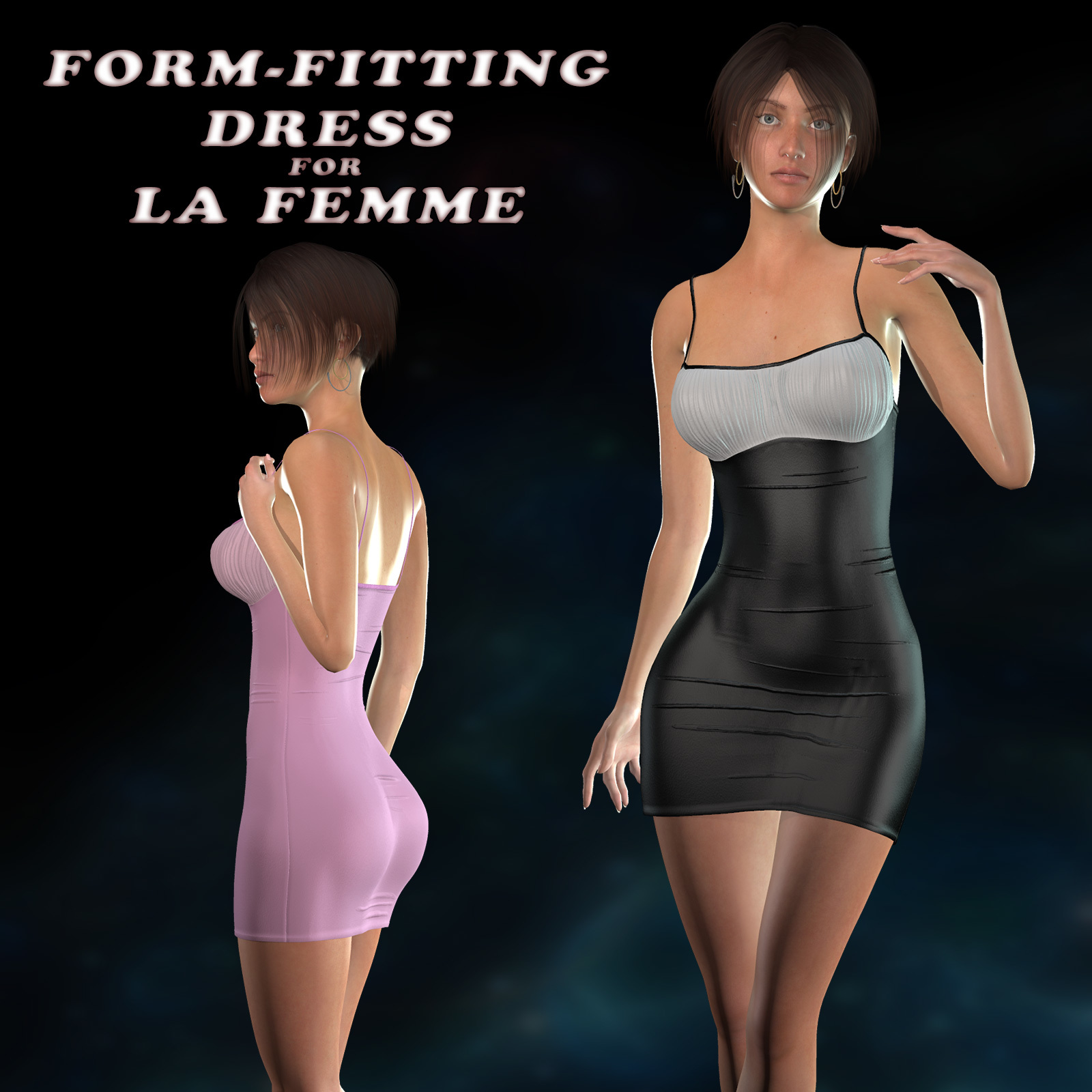 Form-Fitting Dress for La Femme by nemirc